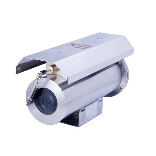 Eksplosions sikrede IP66 (-40c-+60c) kamerahus i rustfrit stål 304 materiale, DC12V, ATEX Cetificeret ExdIICT6