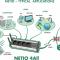 Intelligent WIFI, Bluetooth, Power Meter Strømstyring NETIO4-ALL - Sort model - DE 90-250V