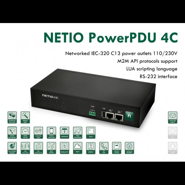 Smart PDU med effektmåling og M2M API-protokol