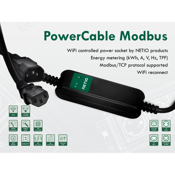 Netio PowerCable Modbus 101S
