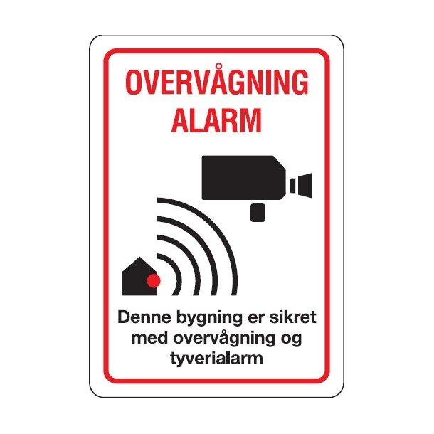 Alarm & Video Overvågnings Klistermærke