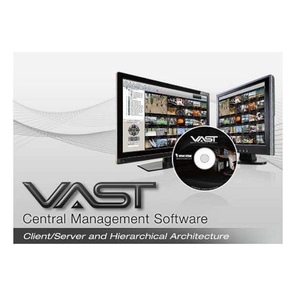 VAST VMS CMS Software og Dongle inkl. 32 Gratis Kamera Licenser, samt Matrix Video Wall