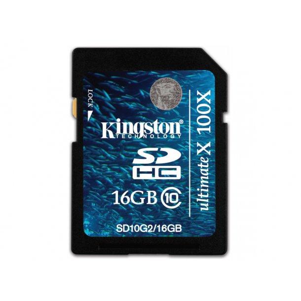SDHC Kort 16 GB Kl.10