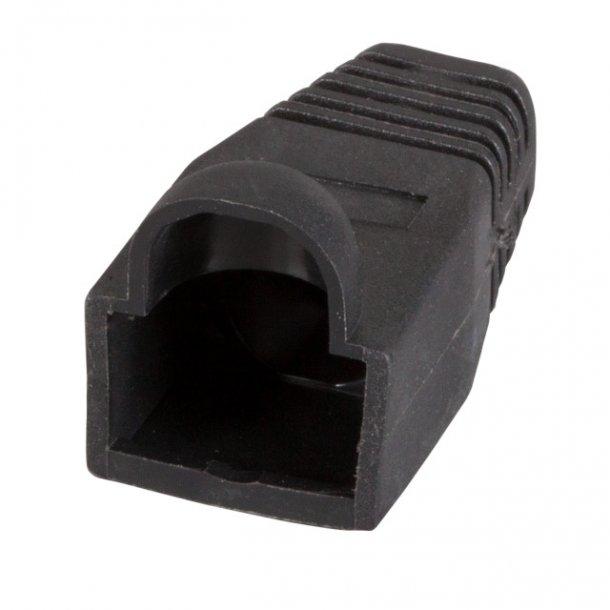 Modular Installations stik RJ45, Anti-Kink sleeve Black