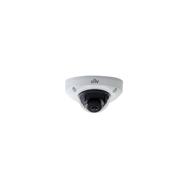 4 MP Udendørs Mini Dome IP66 IK10 (-35c), 2.8mm, Smart IR 15m, WDR, 3DNR, ROI, Mic, 3x Stream, 20fps 2592x1520.