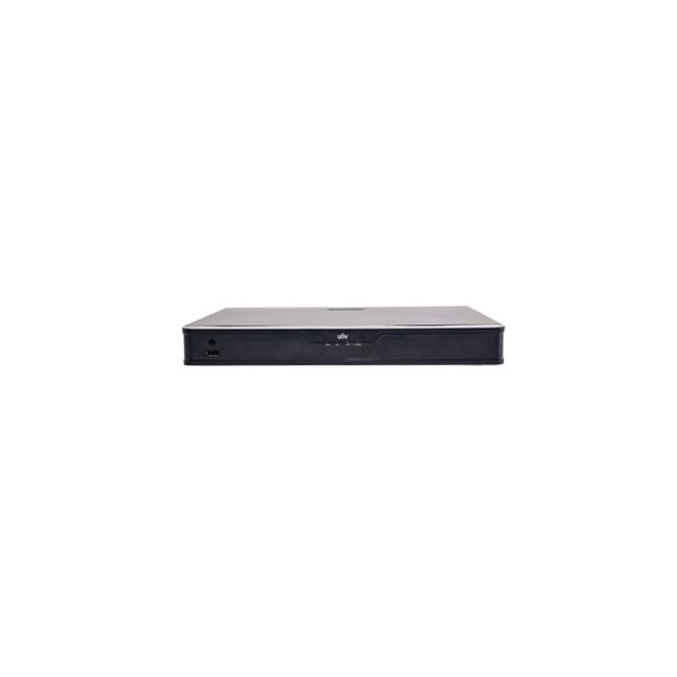 NVR 16 Channel, 16x PoE, 2x HDD Max 16TB, HDMI/VGA Video Out, Max 12MP/4K Decoding, In/Out Brandwith 160/320Mbps, 2x USB, VCA, Uden Harddisk.