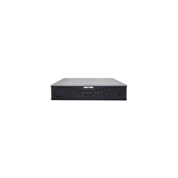 NVR 32 Channel, 8x HDD Max 64TB, HDMI/VGA/BNC Video Out, Max 12MP/4K Decoding, In/Out Brandwith 320/320Mbps, 3x USB, 1x RS485, 1x RS232, Without Hard Disk.