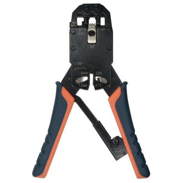 Crimp Tang med Udveksling, RJ11 / RJ12 / RJ45 Crimping tool