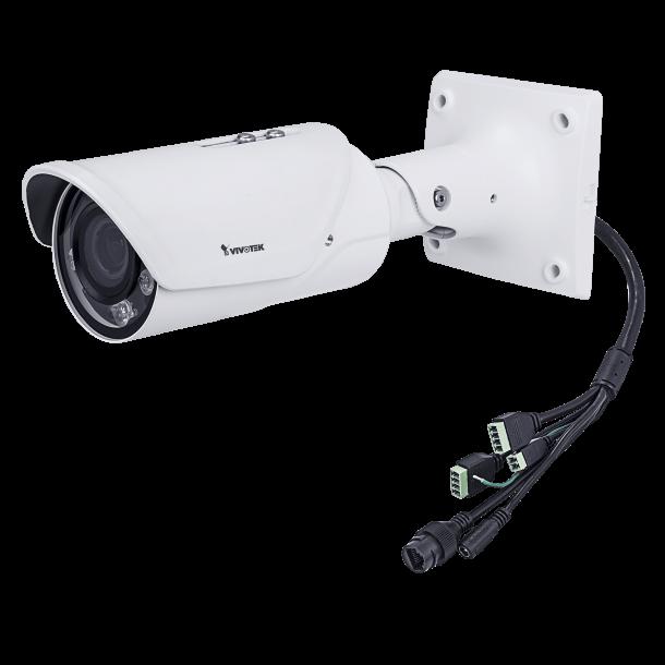 4 MP Udendørs IP66 (-30c), VDS IK10 Bullet, Remote Fokus 2.8-12mm, Smart IR II 30m, SNV, P-Iris, WDR Pro, VCA, Smart Stream II, 3 Stream, Korridor Visning, 30fps 2688x1520.