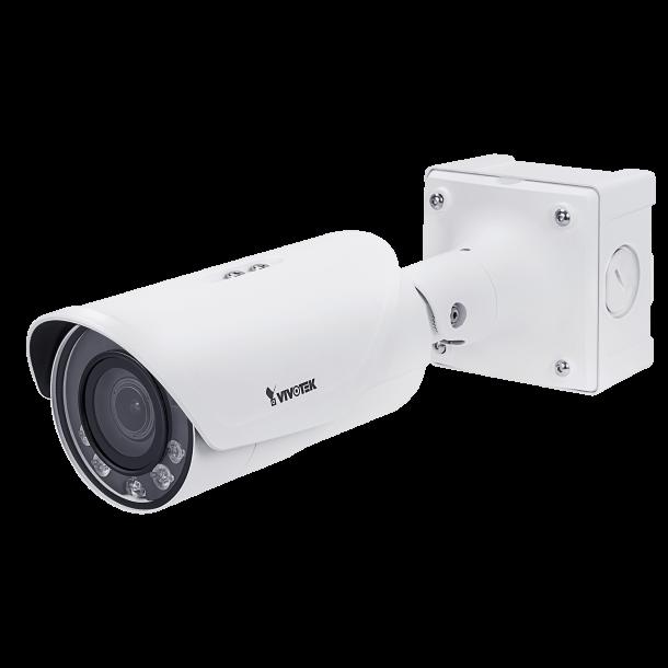 2 MP Outdoor IP66 (-50c), VDS IK10 Bullet, Remote Fokus 4-9mm, Smart IR II 50m, SNV II, P-Iris, WDR Pro II, VCA, 3DNR, Smart Stream II, 4 Stream, Korridor Visning, Fuld HD 60fps 1920x1080.