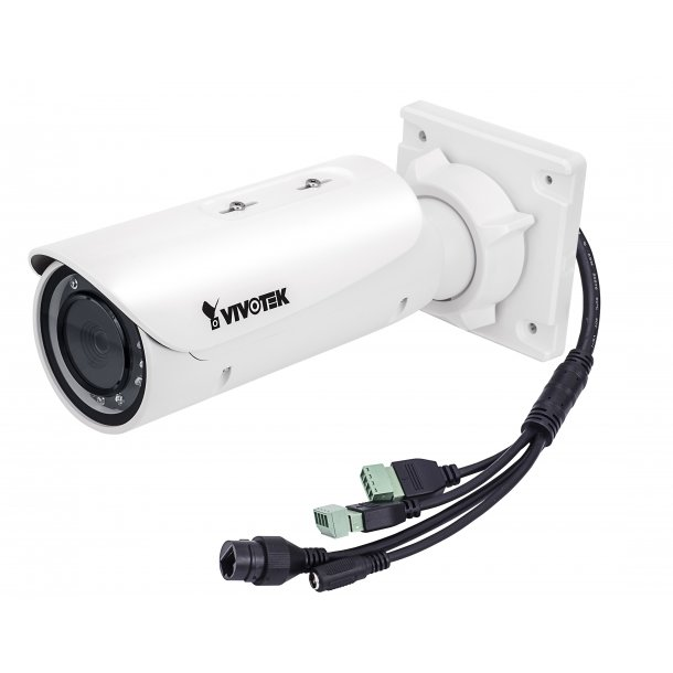 3 MP Udendørs Bullet D/N IP66 (-20c) IK10, (LPR Parking Lot Max 40 kmt), Remote Focus 3-9mm, P-Iris, SNV, WDR Pro, 3DNR, IR 30m, Smart stream II, 3 Streams, Korridor Visning, VCA, Fuld HD 2048x1536 30fps