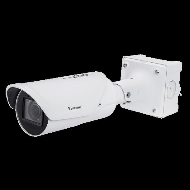 5 MP Udendørs Bullet, 5M 30fps, H.265/H.264/MJPEG, 2.7-13.5mm Linse, RBF, D/N, WDR pro, SNV, 3DNR, Smart stream III, PoE/DC, License Plate Recognition