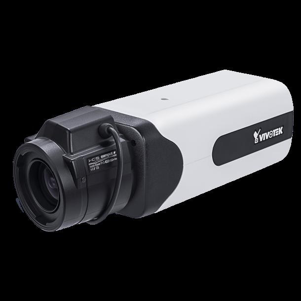 2 MP Indendørs Box, 2M 60fps, H.265/H.264/MJPEG, 3,9-10mm linse, RBF, D/N, SNV, WDR pro, 3DNR, Smart stream III, PoE/DC, i-CS