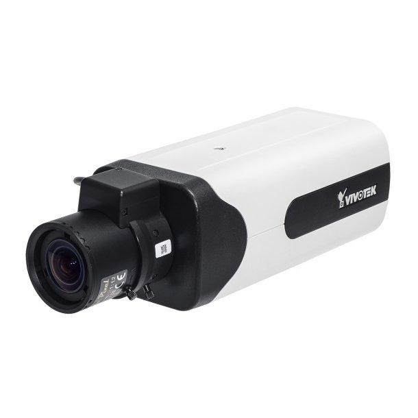 3 MP Indendørs Box (-10c). D/N, 2.8-8mm, P-Iris, WDR Pro, SNV, Smart stream II, 3 streams, VCA, RBF, GbE Port, Korridor View, 30fps 2048x1536.