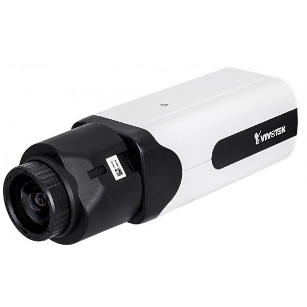 5 MP Indoor D/N Box (-10c), Remote Back Fokus 4.1-9mm, WDR Pro, P-Iris, SNV, 3DNR, DIS, Smart Stream II, VCA, Defog, GbE Port, 4x Streams, Corridor View, 30fps 2560x1920, 60fps 1080p