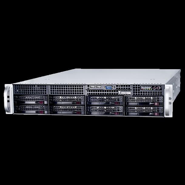 NVR 64 Channel, 8x HDD Max 48TB, RAID, 1080p HDMI/VGA Video Out, VAST Setup, Dual Giga Bit LAN, Fisheye Dewarp, Without Hard Disk.
