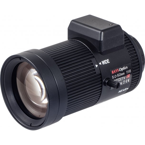 MP Lens. CS Mount. Auto Iris. 1/2.7. 5-50mm. F1.6