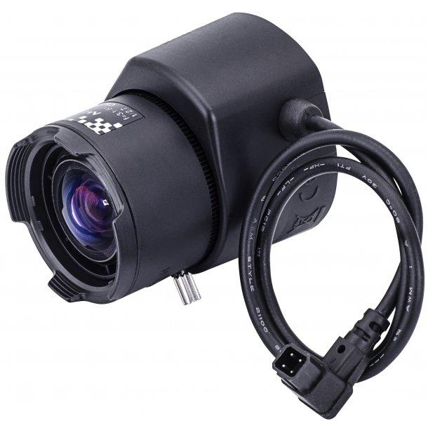 MP Objektiv. CS Mount. Auto Iris. P-Iris. 1/2,7. 3,1-8mm. F1.2
