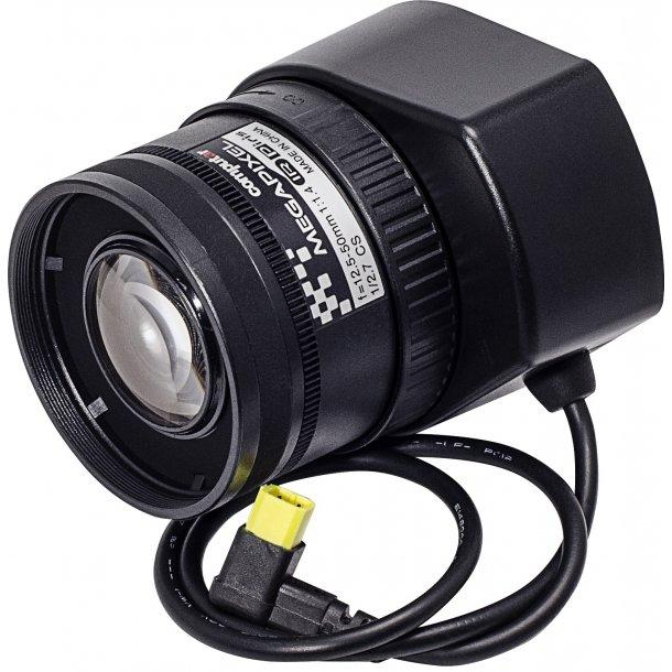 MP Objektiv. CS Mount. Auto Iris. P-Iris. 1/2,7, 12.5-50mm. F1.4