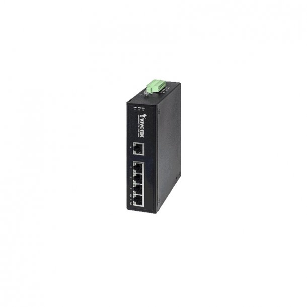 Vivotek Industrial 4 Port PoE Switch, 4x FE PoE, 1x FE Switch, 100Mbps.