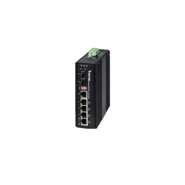 Vivotek Industrial 4 Port PoE Gigabit Switch, 4x GE PoE, 1x GE Combo SFP, 1x GE SFP Switch, 1000Mbps. (Kopi)