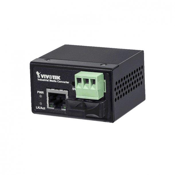 Vivotek Industrial FE Media Converter SC Single Mode 30KM, 100Mbps.