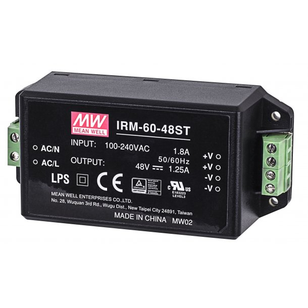 60W Single Output Encapsulated Media Converter, 48V