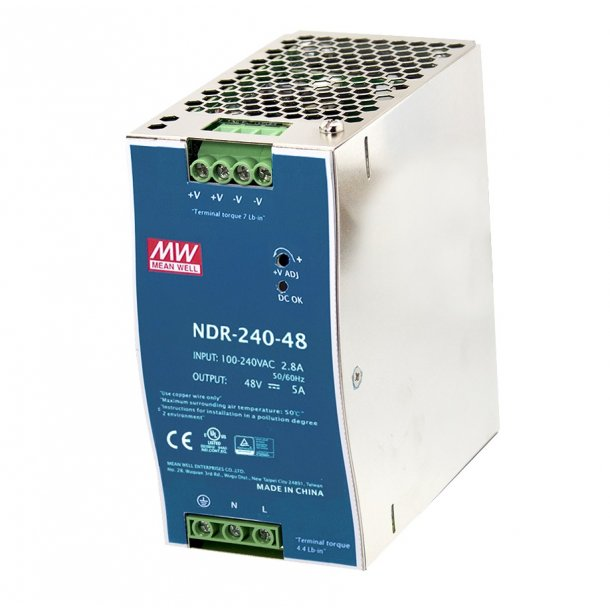 240W Single Output Industrial DIN Rail Power Supply